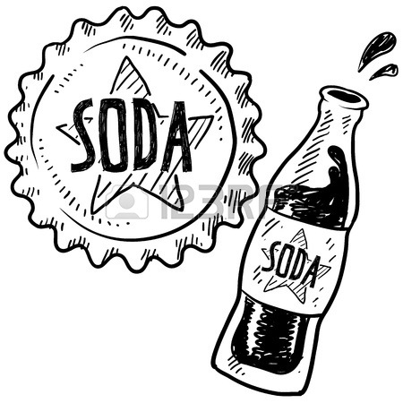 450x450 Doodle Style Soda Bottle With Cap Illustration In Vector Format