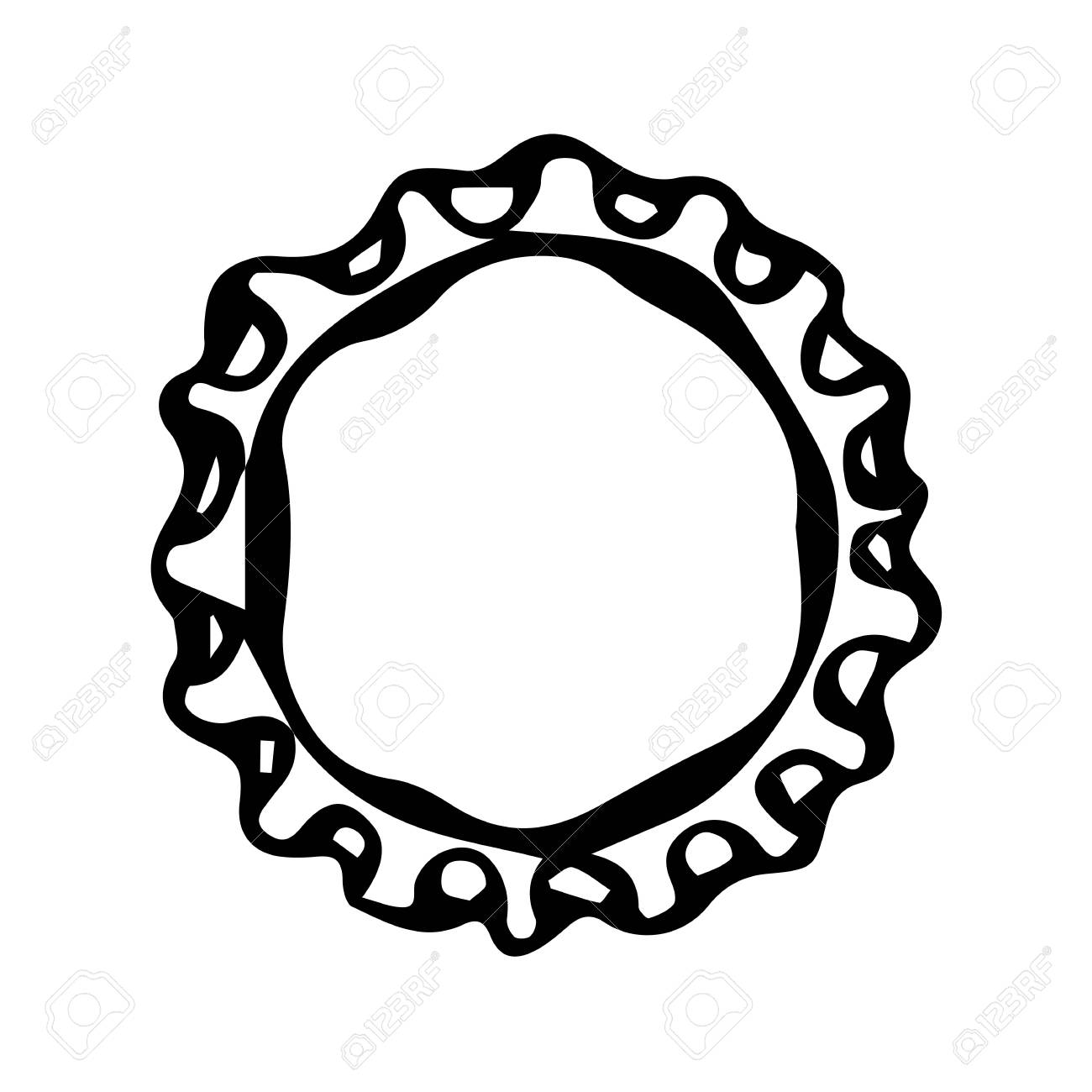 1300x1300 Beer Bottle Cap. Doodle Style Sketch. Vector Royalty Free Cliparts