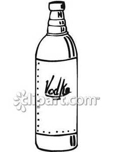 225x300 Drawn Bottle Vodka Bottle