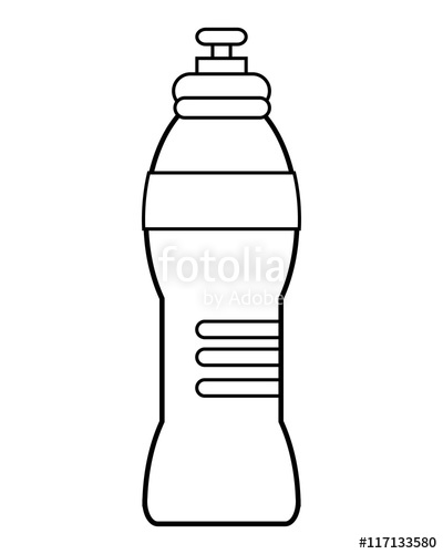 400x500 Flat Design Sports Water Bottle Icon Vector Illustration Stock