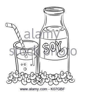 300x320 Vector Hand Drawing Sketch Milk Bottle Illustration Stock Vector