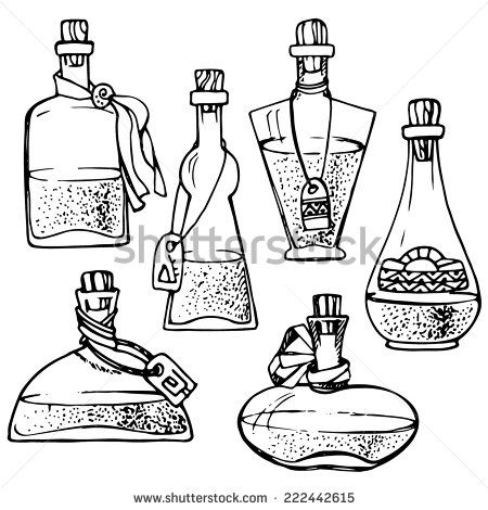 Bottle Line Drawing