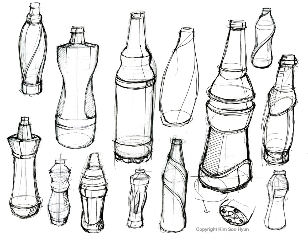 1173x912 How To Dra A Bottle Soya Sauce Perfume Bottle Industrial Design