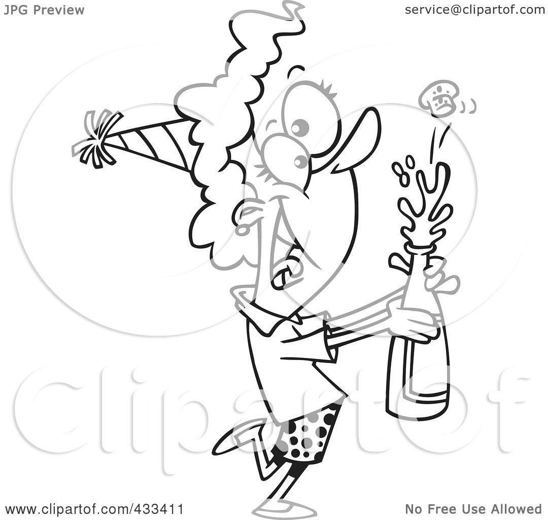 1080x1024 Royalty Free (Rf) Clipart Illustration Of Coloring Page Line Art