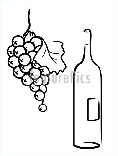 377x500 Wine And Grapes Illustration