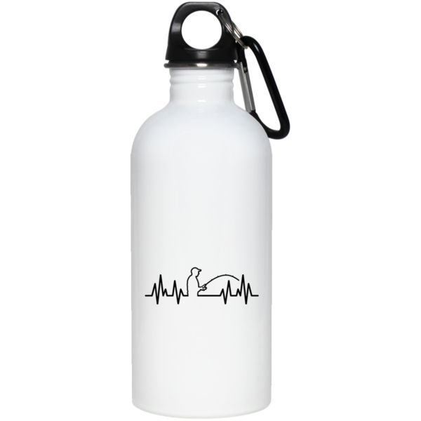 600x600 Fisherman Heartbeat Water Bottle Fishing Mind