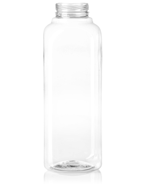 450x600 Oz Clear Pet French Square Bottle With 38 Ipec Neck Finish