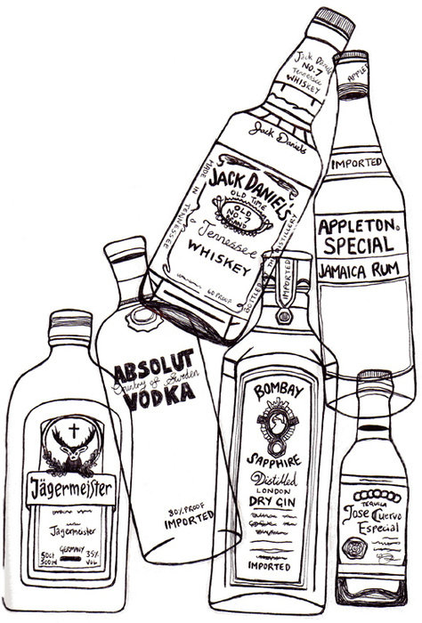 474x700 Whisky, Tequila, Vodka, Jager Sangeeta Drawings