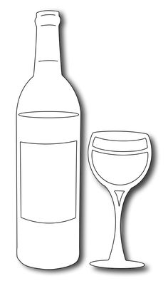 236x401 Wine Glass Pattern. Use The Printable Outline For Crafts, Creating