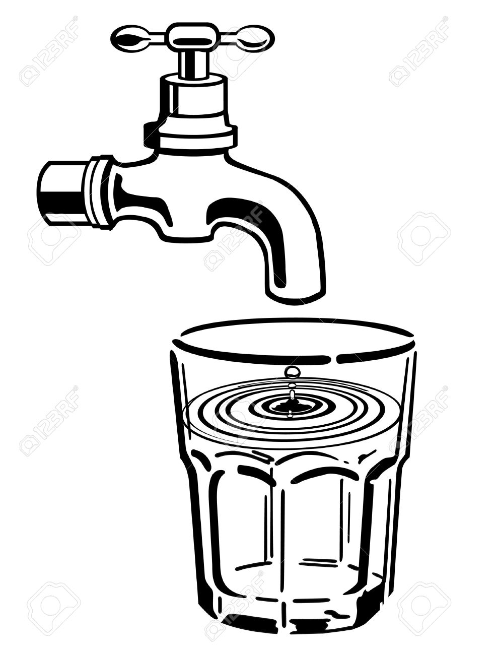 987x1300 Drinking Water Clipart Black And White