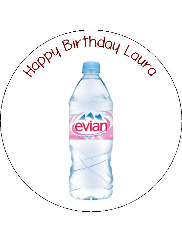720x960 Evian Water Bottle Edible Icing Cake Topper The Caker Online