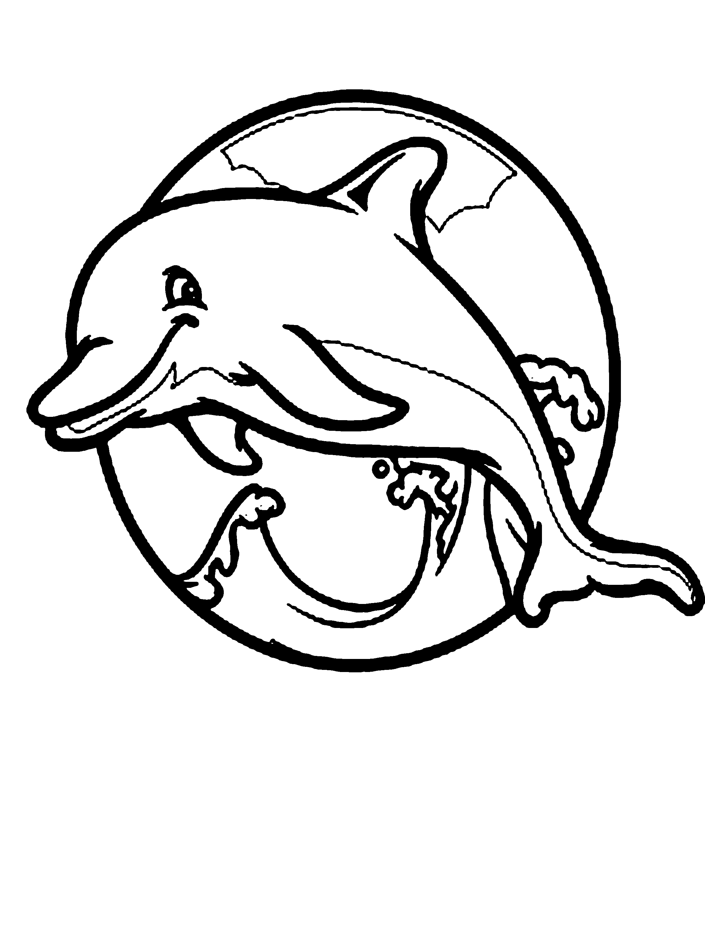 2322x3048 Coloring Pages Draw A Dolphin