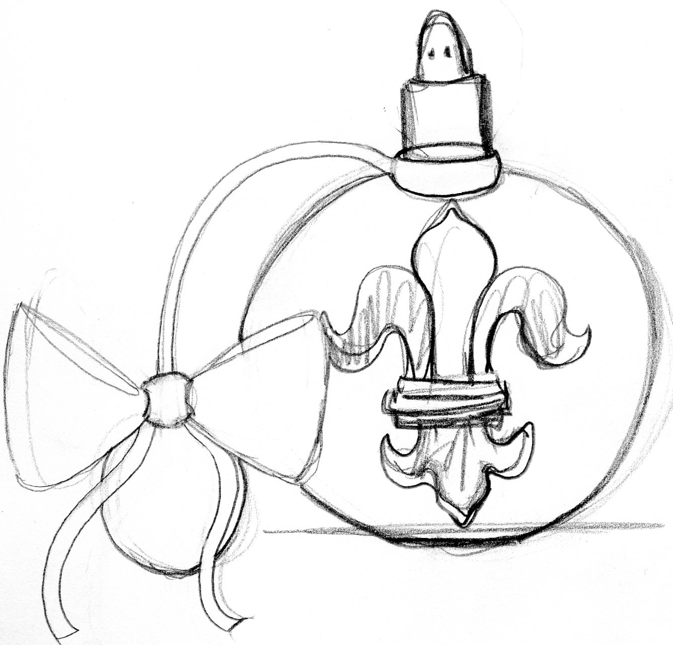 Perfume And Water Tattoo: Bottles Drawing At GetDrawings
