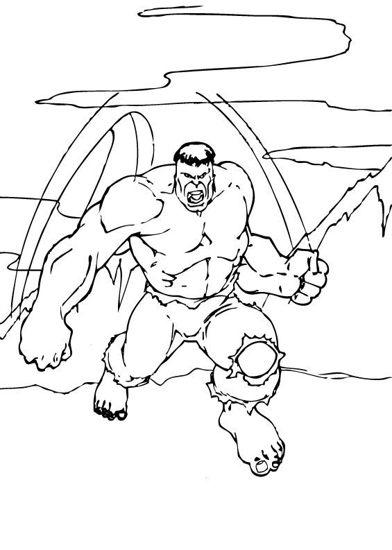 565x793 Hulk Lifts Boulder Coloring Pages
