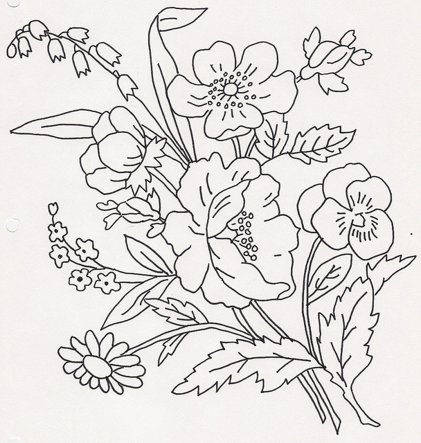 608x640 Bouquet Of Flowers Flower, Embroidery And Patterns