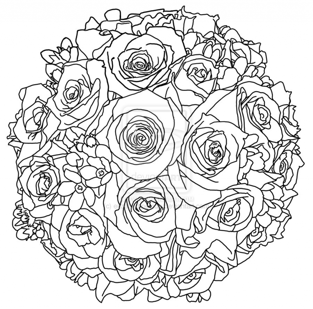 1024x1010 Flower Bouquet Drawings
