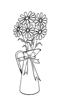 236x410 Bouquet Line Art