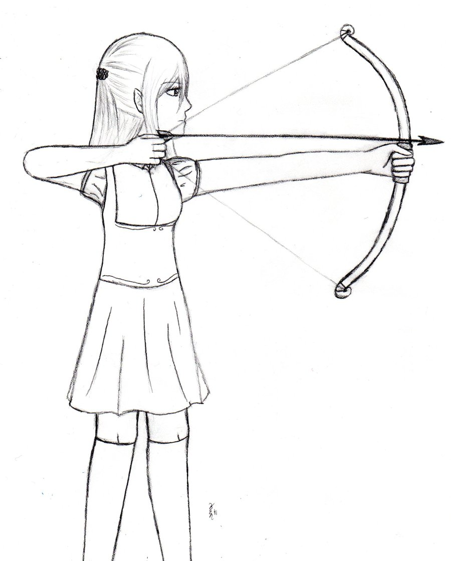 900x1119 Elf Girl With Bow And Arrow By Kelsey Chan12