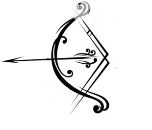 310x265 Latest Bow And Arrow Tattoo Designs