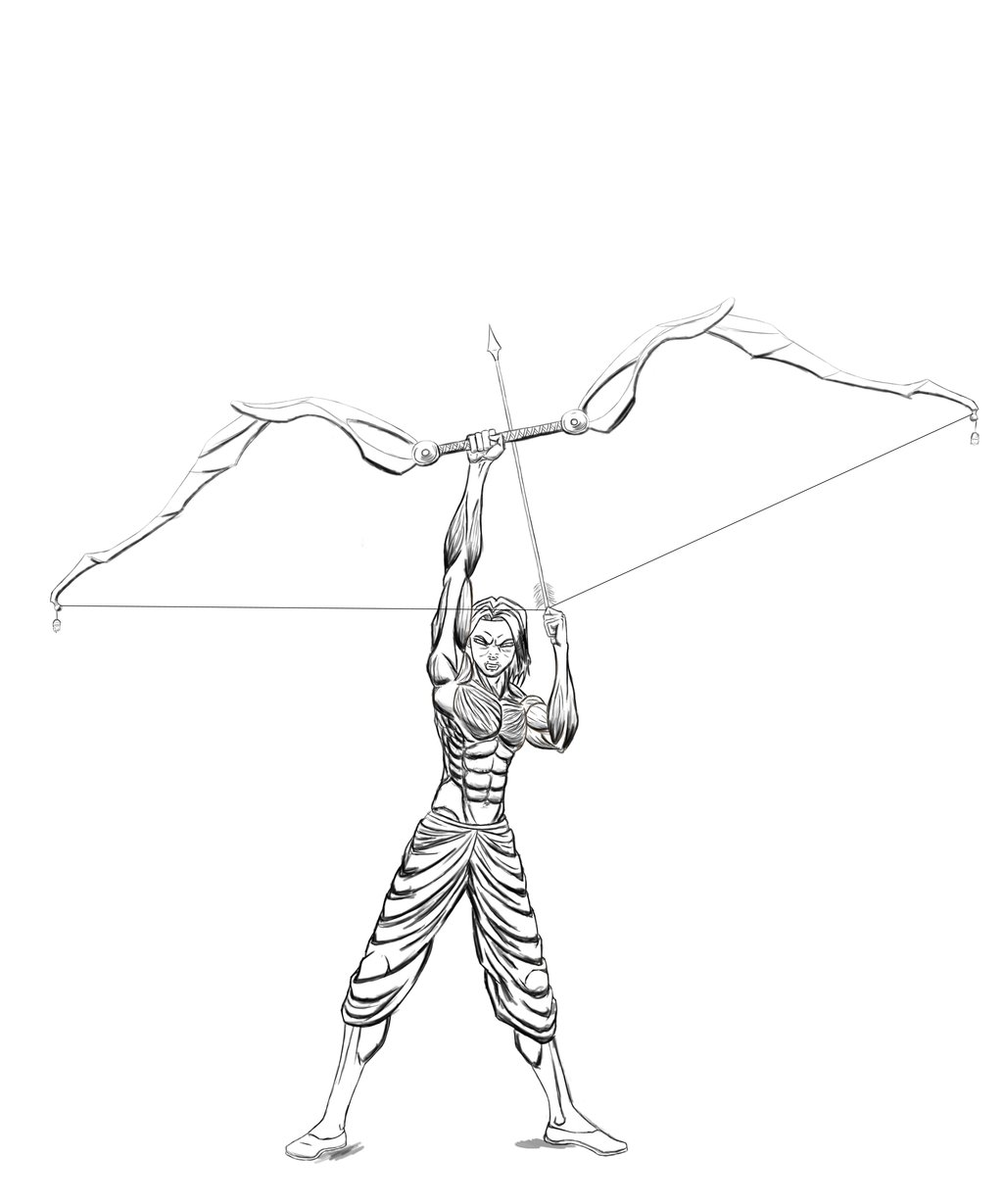 1024x1229 Rough Bow And Arrow 2012 By Darshan2good