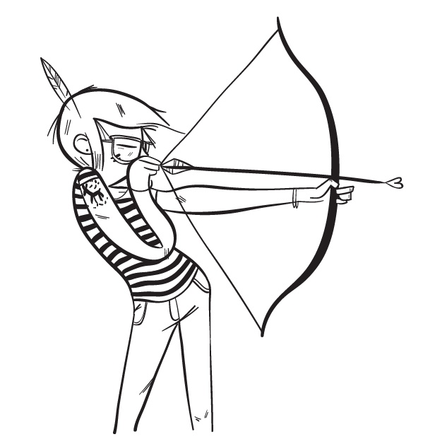 Bow Arrow Drawing