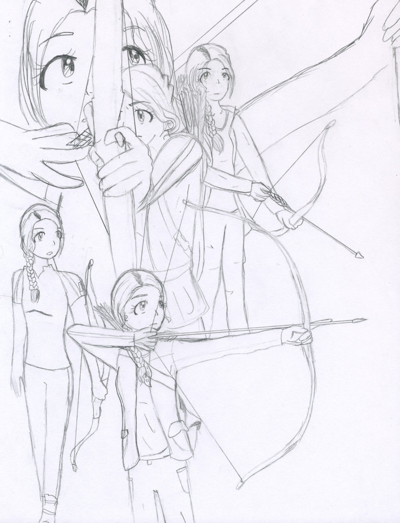 782x1021 Bow And Arrow Practice By Littlemuh