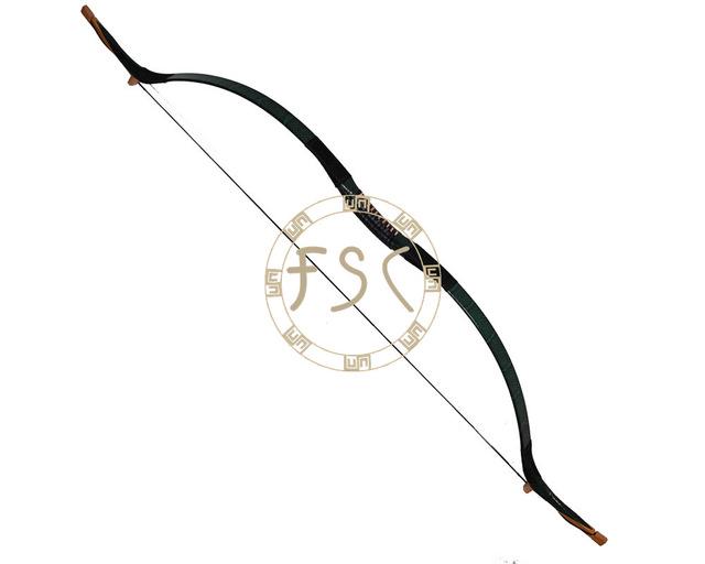 640x512 65lbs Diy Hunting Bow Green Snakeskin Archery Recurve Bow China