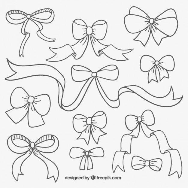 626x626 Cute Hand Drawn Ribbons Free Vector Cuttable Vinyl Ideas