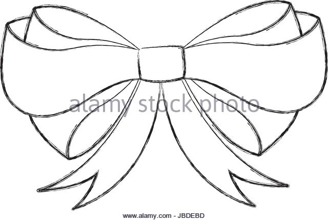640x430 Gift Bow Sketch Stock Photos Amp Gift Bow Sketch Stock Images