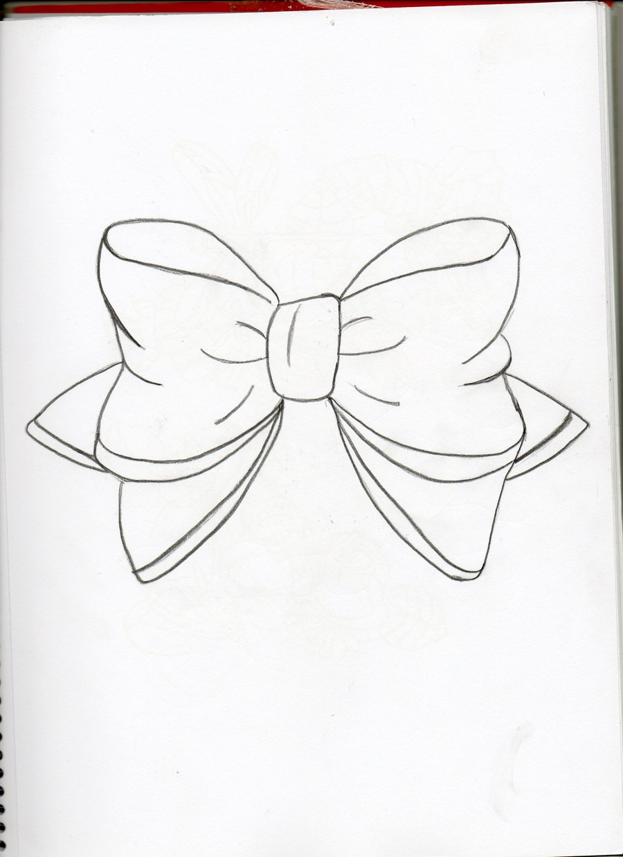 900x1238 Bow Drawing