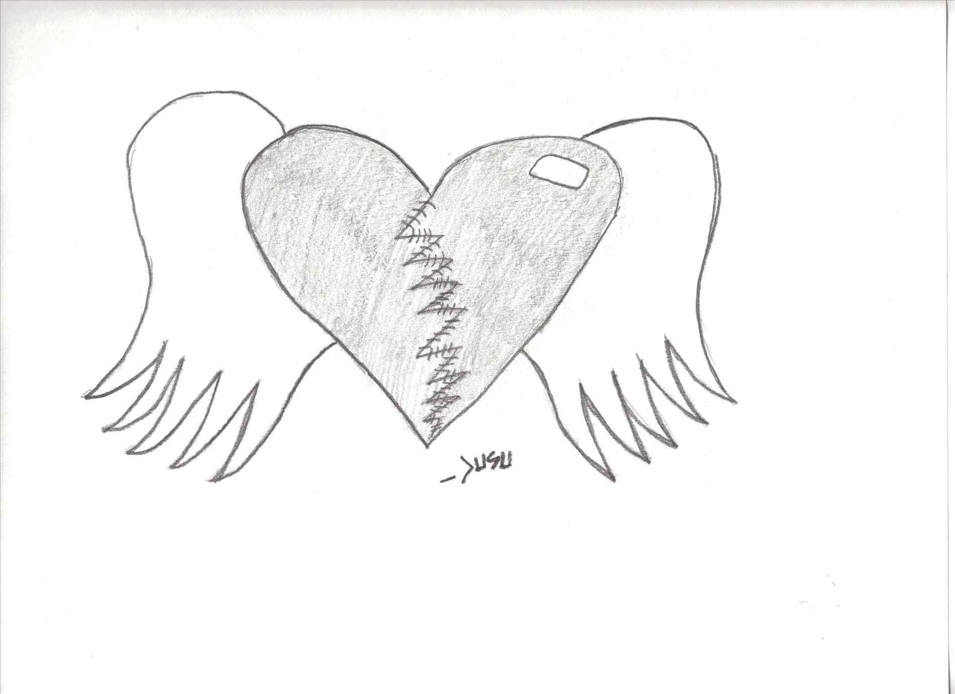 1900x1380 Drawn Pencil And In Color Drawn Heart Music Drawings Pencil