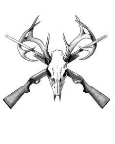 236x295 Deer Skull Tattoos On Hunting Tattoos, Deer Track