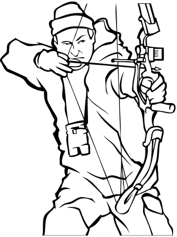 360x480 Bow Hunting Coloring Page Free Printable Coloring Pages