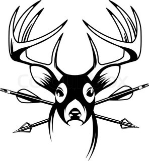 296x320 Bow Hunter Drawing Compound Bow Stock Vector Colourbox