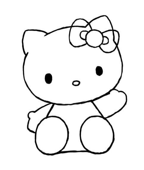 484x572 How To Draw Hello Kitty