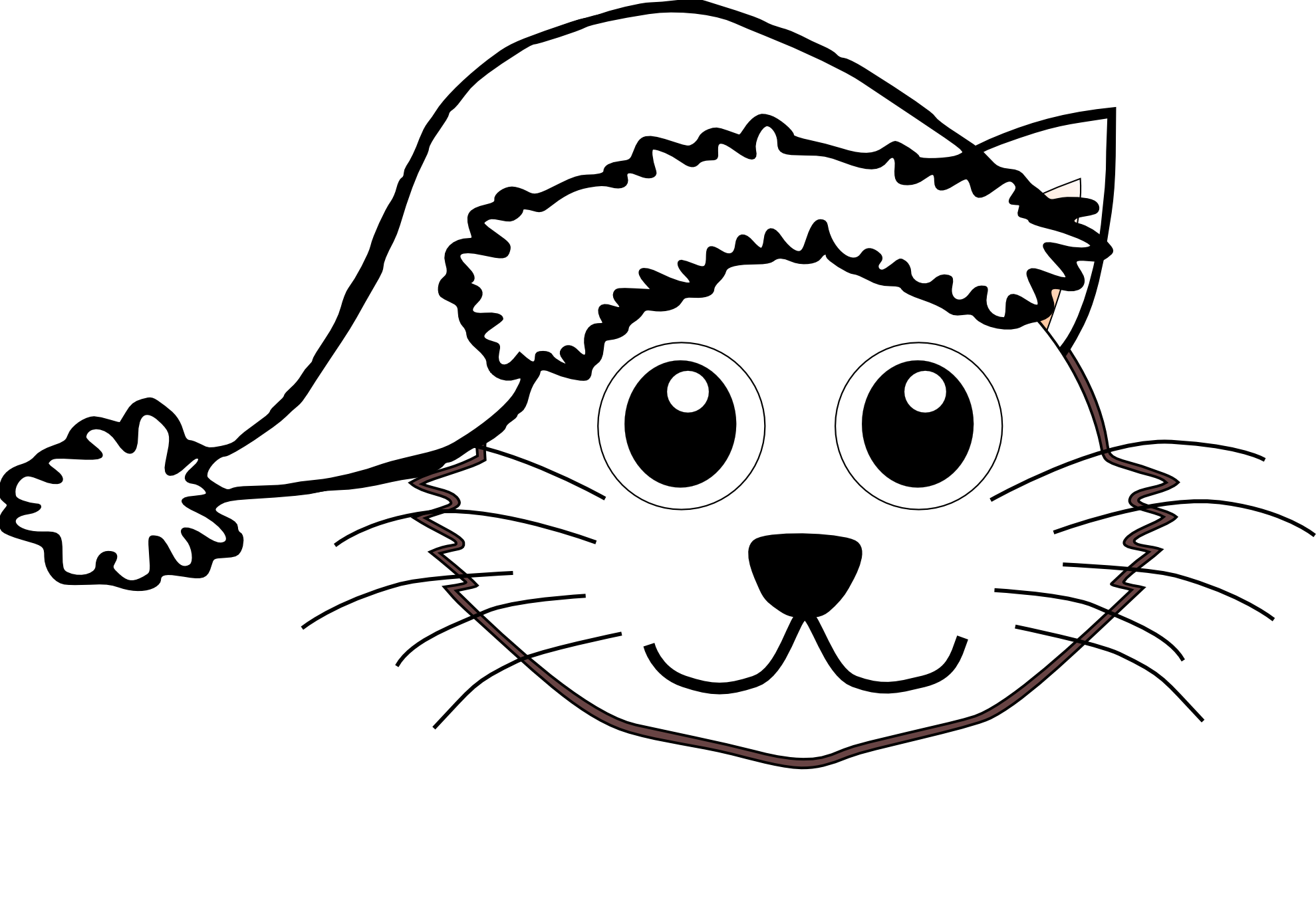 1979x1366 Kittens Clipart Line Drawing