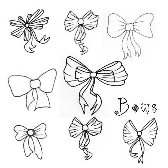 556x555 Bows Brushes By Circle Of Fire Photoshop Resource Collected By