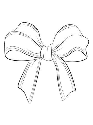 358x480 Christmas Bow Coloring Page Free Printable Coloring Pages