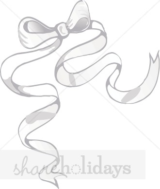 330x388 Long White Bow Clipart Christmas Decoration Clipart