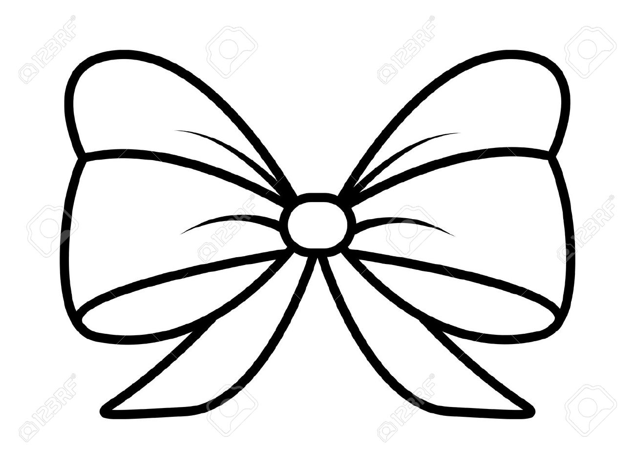 1300x961 Ribbon Bow Silhouette For Christmas Present Symbol Design. Vector