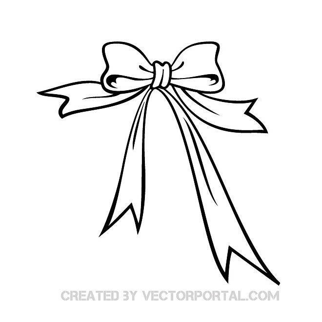 660x660 And White Present Bow Clipart