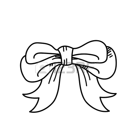 450x450 Freehand Drawing Bow Ties Illustration Stock Photo, Picture