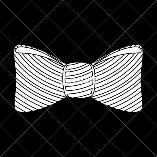 550x550 Bow Tie Icon Vector Illustration