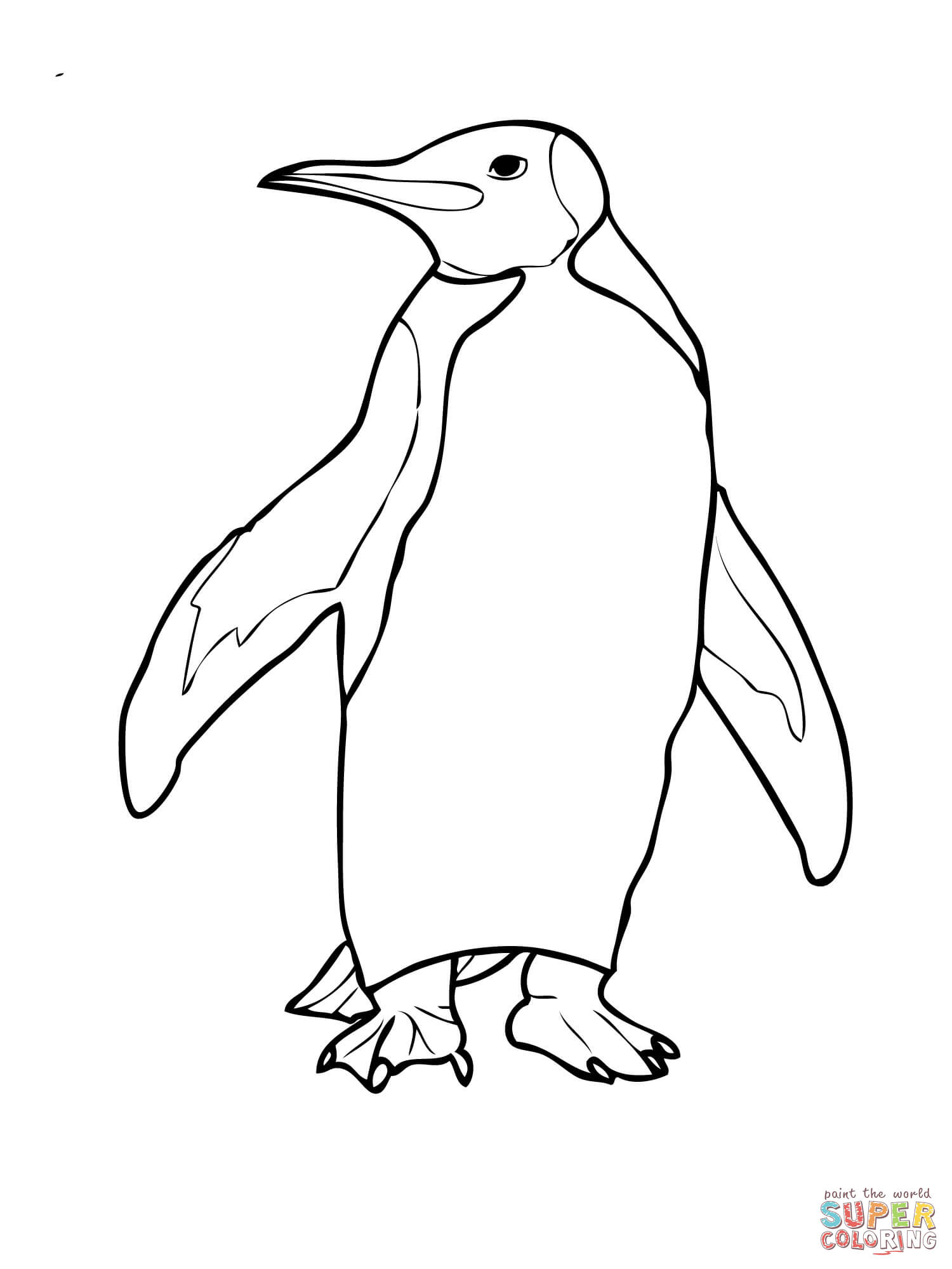 1500x2000 King Penguin With A Bow Tie Coloring Page Free Printable
