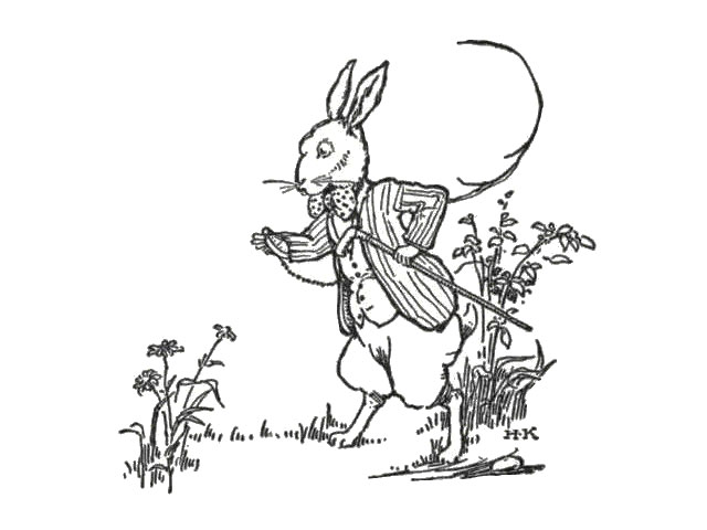 640x480 Public Domain Images 003 Rabbit With Bow Tie, Cane Checking