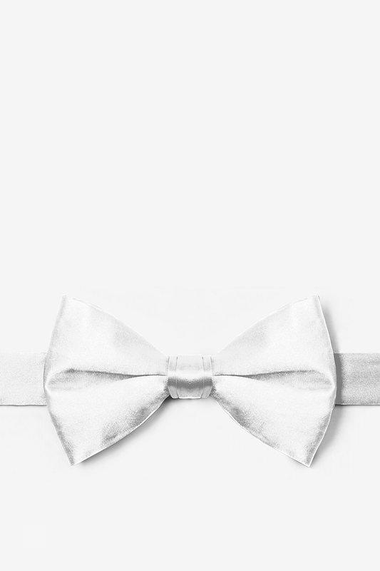 533x800 Wedding Day White Silk Pretied Bow Tie
