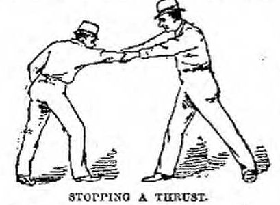 409x300 Bowie Knife Fighting Instruction By Louis Juan Ohnimus (1890)