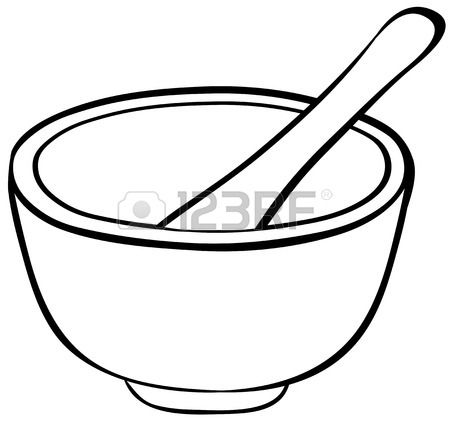 450x421 Close Up Mortar With Bowl And Spoon Royalty Free Cliparts, Vectors