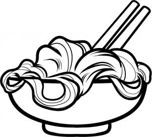 302x271 How To Draw How To Draw Noodles