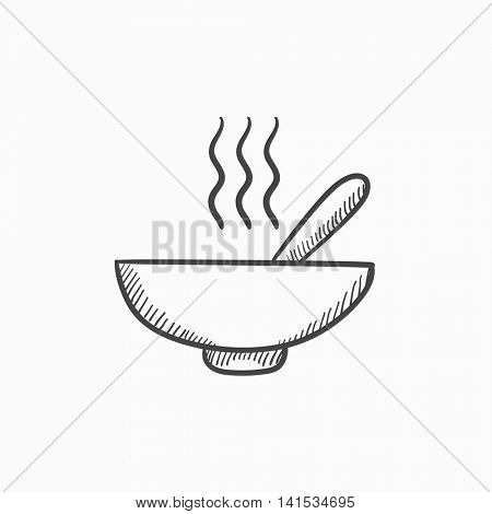 450x470 Bowl Hot Soup Spoon Vector Sketch Vector Amp Photo Bigstock